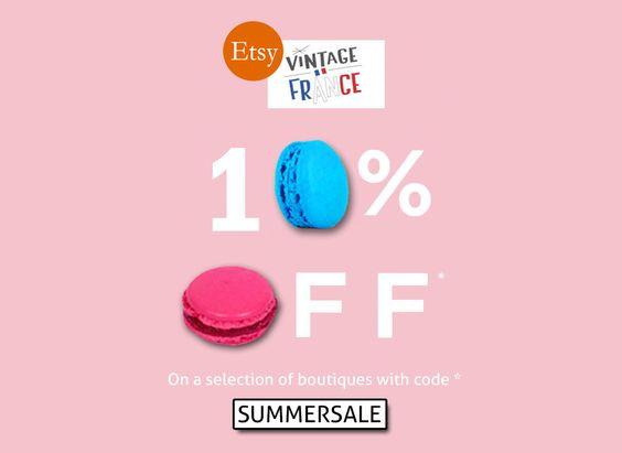 French Summer Sale >>> 10% de réduction dans toutes les boutiques participantes. Faites-vous plaisir! de la boutique CrazyFrenchVintage sur Etsy