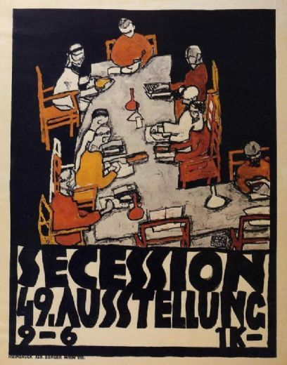 egon schiele forty ninth secession exhibition poster 19162 paintings