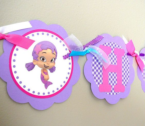 Bubble Guppies Birthday Party Happy Birthday Banner By Farmerbaby Claire 39 S Birthday