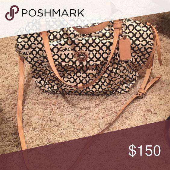 Coach bag! Rare! Good size bag! Perfect condition! Coach Bags Totes