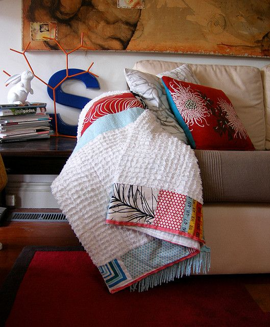 how to make a chenille throw