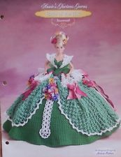 Annie's Attic Belle de vestido de baile glorioso Susannah Crochê Cama Padrão Boneca