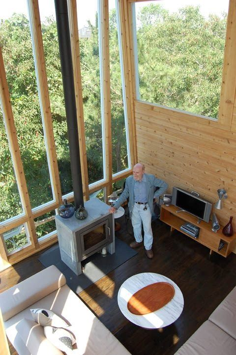 Andrew Geller visits the 1961 Frank house in Fire Island Pines, New York,  2008. The house was purchased and lovingly restored by Philip Monaghan.