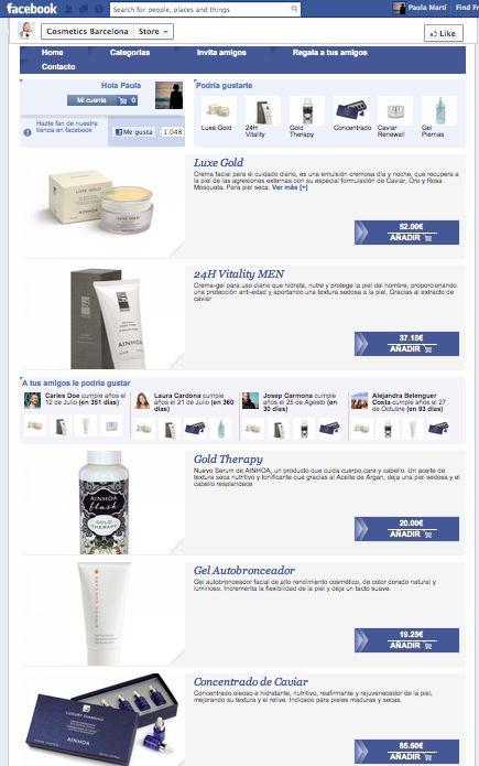 La tienda en Facebook de Comsetics Barcelona ofrece una amplia gama de productos de cosmética que ayudan a cuidar tu piel.