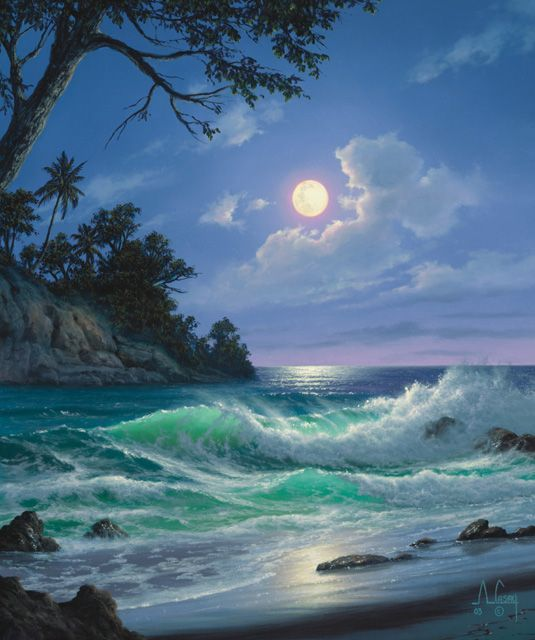 That S How You Airbrush Nice Job Ocean Painting Ocean Art Seascape Paintings
