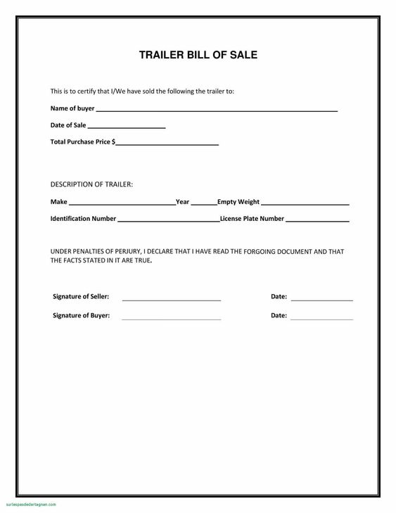 020 Bill Of Sale Template Free Business Agreement Word Unique For