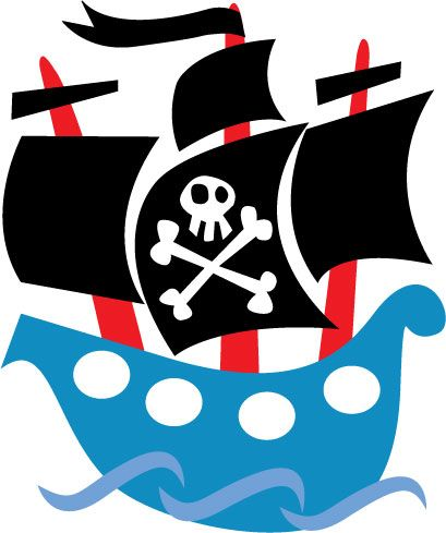 Barco pirata mural