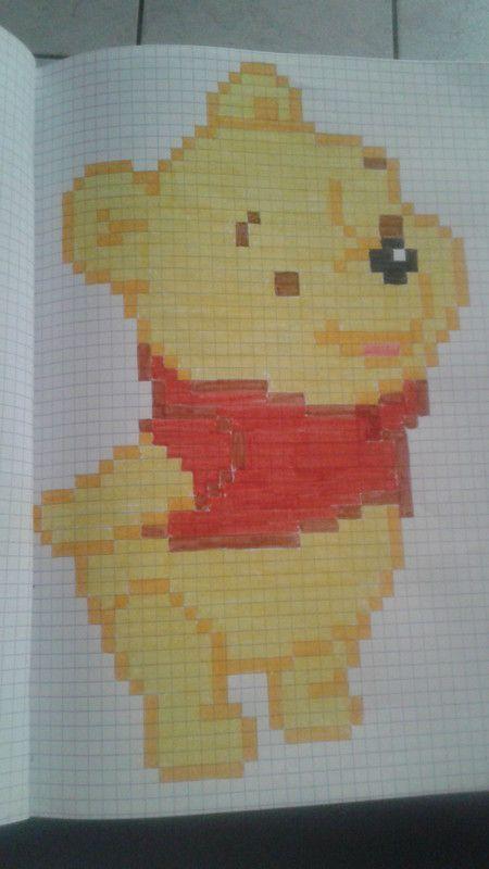 Winnie Coloriage Pixel Dessin Petit Carreau Et Dessin Carreau