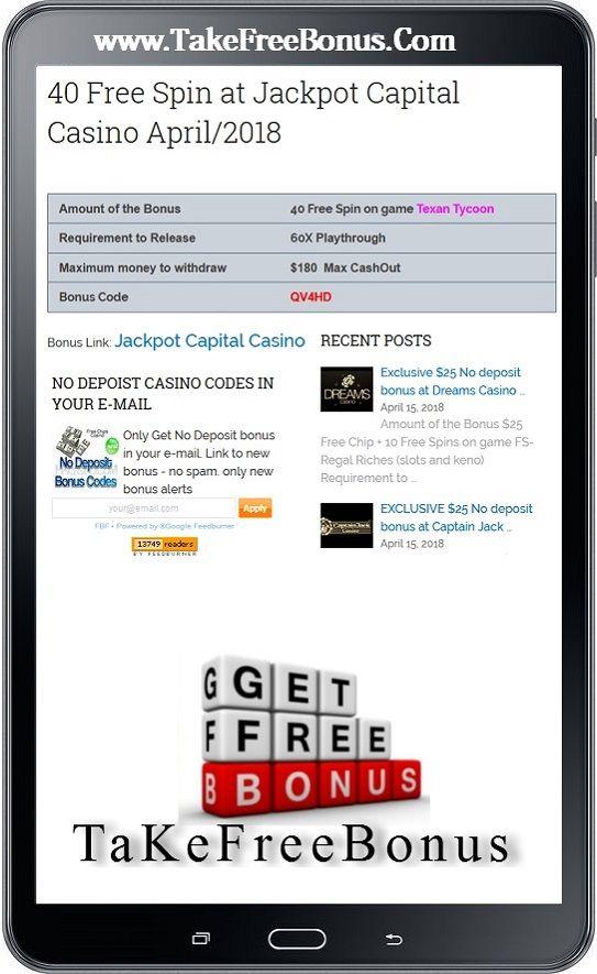 50 Free Spin At Jackpot Jackpot Capital Casino January 2019 With