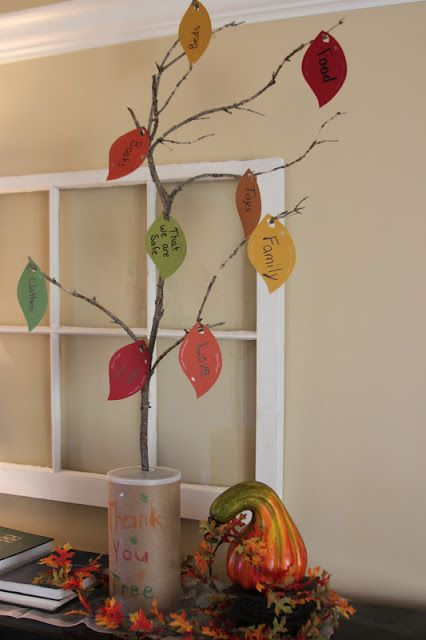 Kara's Creative Place: Thank You Tree (Thanksgiving) No cutting Paint Chip Leaves.