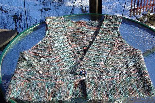Cabin Fever Kimono Vest by selmaknits, via Flickr