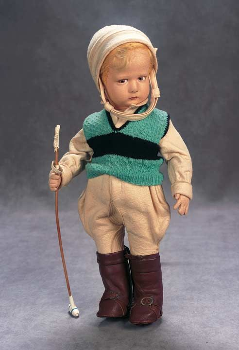 Italian Cloth Character by Lenci as Polo Player from Sports Series