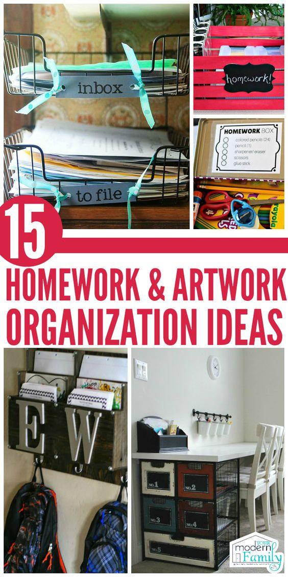 organization helpful hints regarding homework