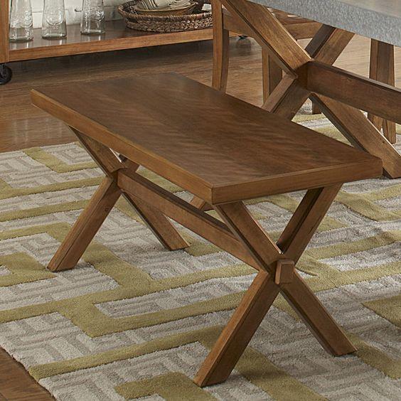 August Grove Gardner Wood Kitchen Bench & Reviews | Wayfair