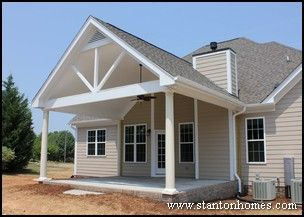 Porch styles custom home building and design blog home for Back porch ideas for ranch style homes