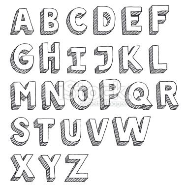 Alphabet Capital Letters Sans Serif Drawing Royalty Free ...