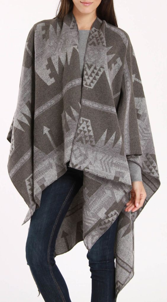 Tribal draped coat / yoki