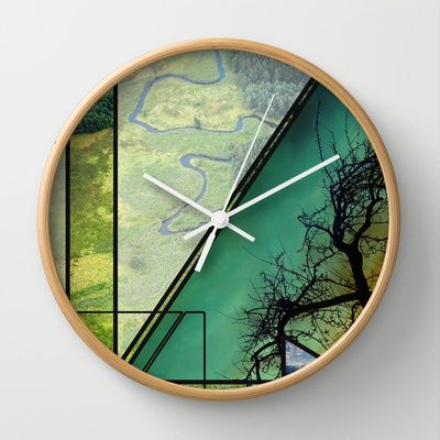 Nature Geometry Wall Clock by infloence - $30.00