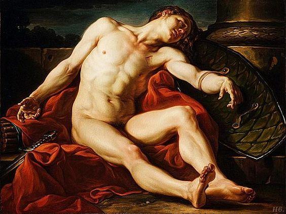 Death of a gladiator. 1773. Jean Simon Berthelemy. French. 1743-1811. http://hadrian6.tumblr.com