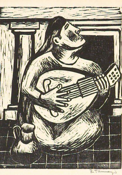 Woman with Mandolin (Mujer con Mandolin) Rufino Tamayo