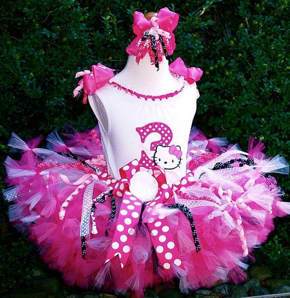 Hello+Kitty+Hot+Pink+Black+Birthday+Petti+Tutu+by+PoshPinksTutu,+$99.00
