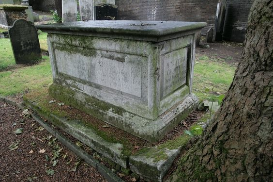 18th-century tomb of the Cromwell family. Bunhill Fields, London