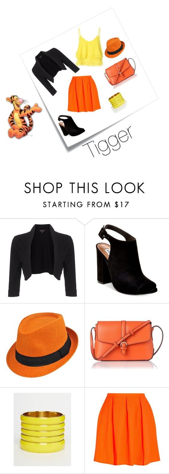 """Tigger"" by adisneygirlme on Polyvore featuring Disney, Post-It, Phase Eight, Steve Madden, L.K.Bennett, ASOS, Opening Ceremony and Glamorous"