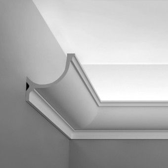 """C902 Crown Molding for Indirect Lighting. Face: 5-1/2"""" Length: 78-3/4"""" ____________________________ Request Your FREE Catalog: http://form.outwater.com/oracusa.php:"""
