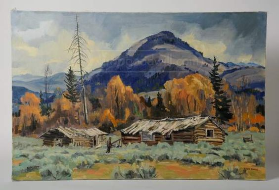 shopgoodwill.com: Signed Alfred Wands Mountain Landscape Painting