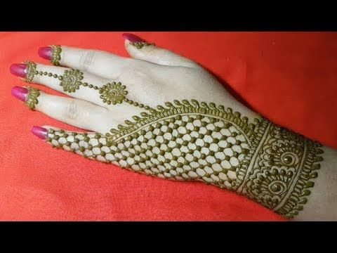 Stylish And Easy Mehndi Design Back Side