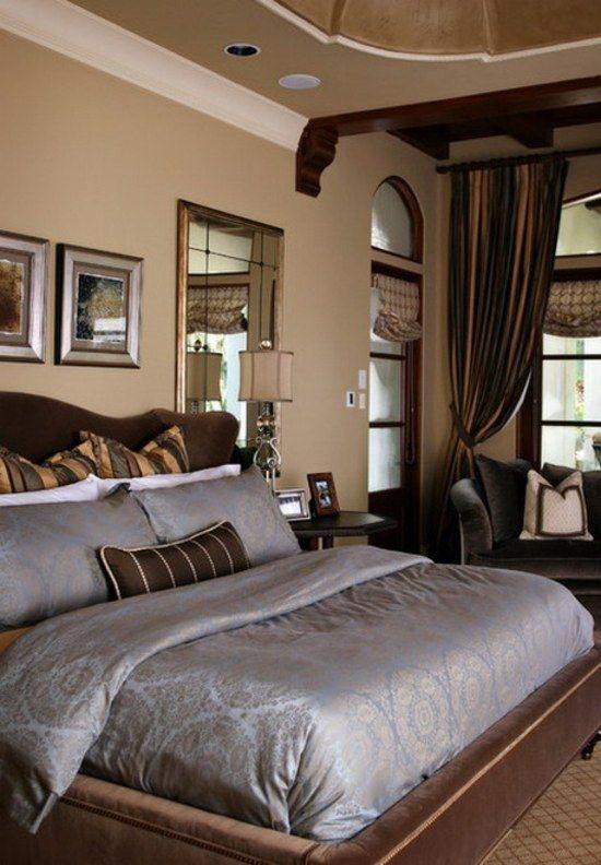Chambre Coucher Design Marroon Traditional Bedroom Bedroom