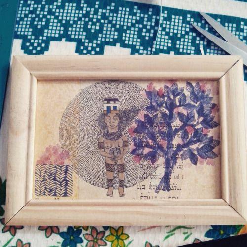 Índia.  #binárioarmada #popnaïfreciclado #art #arte #naïf #naïveart #artecearense #urbanart #ceará #nordeste #codex #brazilianart #cultura #streetart #brazilianculture #codexbinarium #color #nanquim #lendasimaginadas #aquarela #windsorsmith #processo #codex #detalhe #detail #ideafixa.