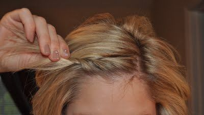 Great hairstyles for shoulder length hair - This lady is so stinking cute!  She has like a million hair tutorials! Or maybe 35 or so, but they are all really adorable.: Hair Ideas, Twisted Bang, Hairdos, Hair Styles, Shoulder Length Hairdo, Shoulder Length Hairstyle, Hair Do, Shoulder Length Hair Style, Cute Hairstyles