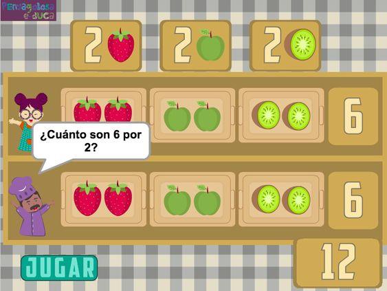 Multiplicar sumando fruta (caja 3×2)
