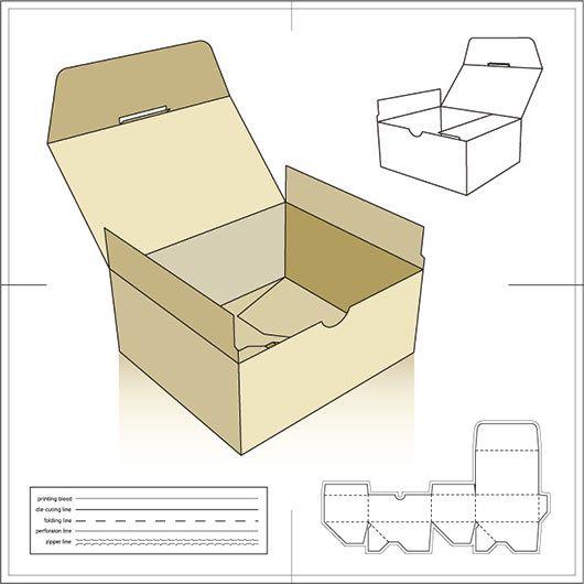Mod les patrons pour bo tes d emballage en carton eps le jardin des d lices diy pack - Modele de boite en cartonnage ...