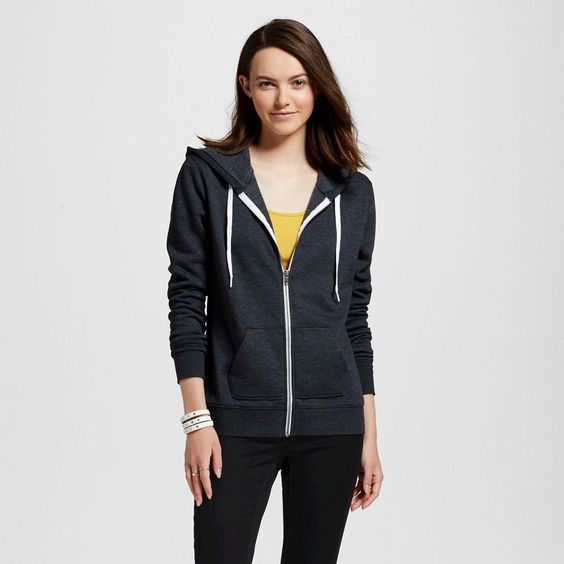 Women's Hoodie Charcoal Heather XL - Mossimo Supply Co. (Juniors')