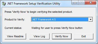 NET Framework 4.5 Screenshot