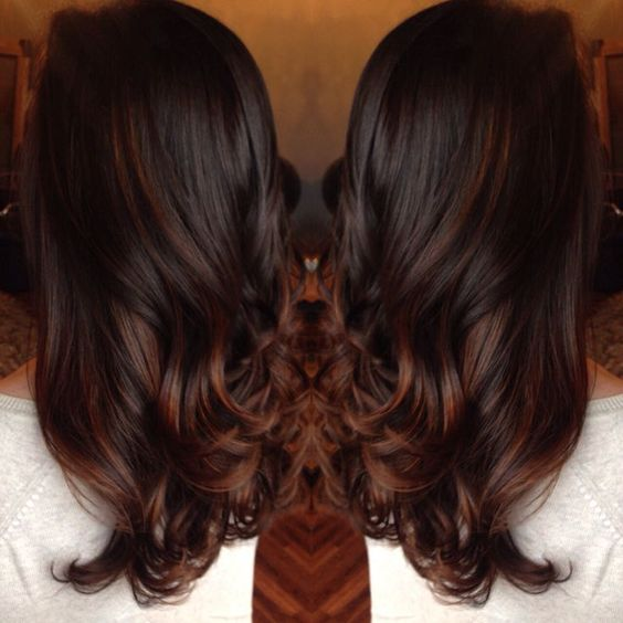 rich chocolate brown red balayage , Google Search