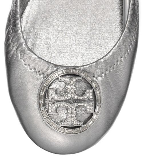 More shoes to buy!!!  Metallic Violet Ballet Flat | Womens Flats | ToryBurch.com