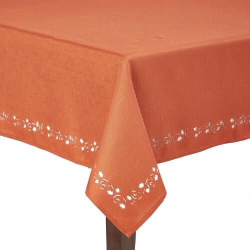 Leaf Cut Tablecloth | Christmas Tree Shops andThat!