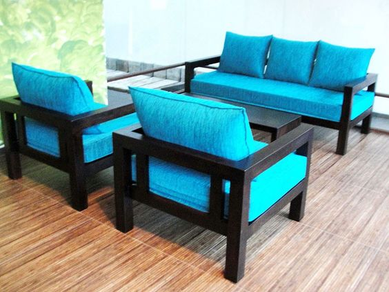 plain wooden sofa models images