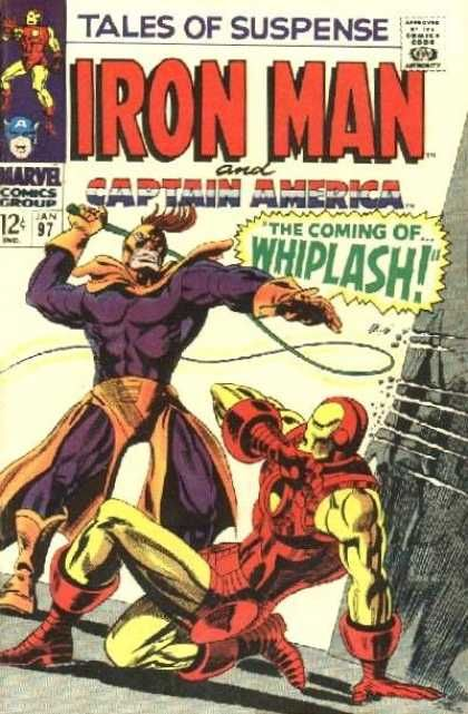 Iron Man - Marvel Comics Group - Captain America - Whiplash - Superhero - Gene Colan