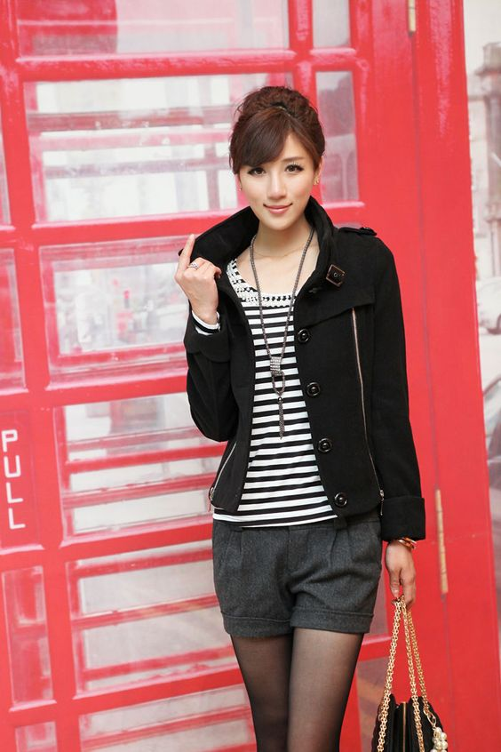Lana de pelo corto 2012 nueva caída chaqueta de las mujeres y la ropa de invierno versión coreana de las mujeres delgadas chaqueta cortos: