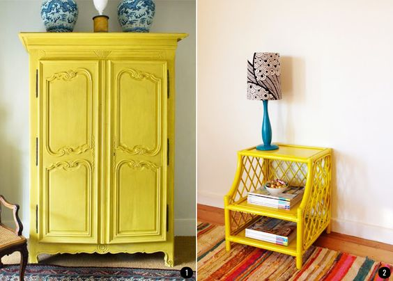 4 colores de moda para muebles pintados con chalk paint for Muebles pintados de colores