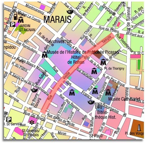 Paris - Shopping - Rue Vieille du Temple