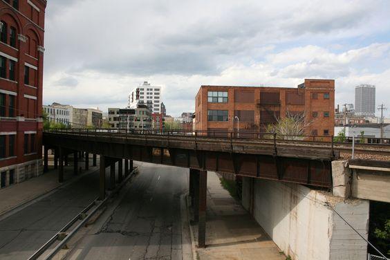 walker's point milwaukee - railroad bridge over First Street   Google Search