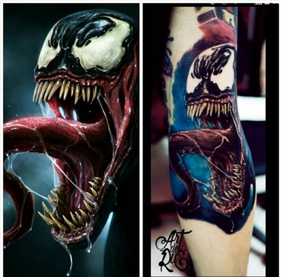 Sad Boy Alone Quotes: Venom Tattoo. Artist: Bryan Diaz