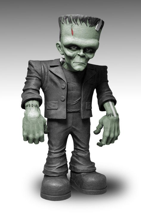 """Upcoming Frankenstein figure from Mezco Toys. This 18inch Monster Scale Frankenstein features eight points of articulation. Each Frankenstein is packaged in his own collector friendly display box and ships in November 2012. The figure will go on sale this November and we are being told that the suggested retail price is $99. """"Frankenstein may have more friends in 2013!"""""""