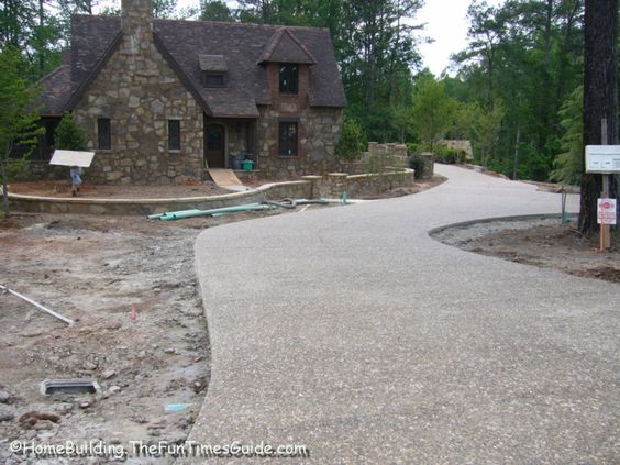 Stone driveways of new england washed river pebble for New driveway ideas