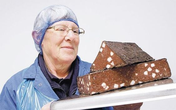 PRIZED PUD: Doreen Haigh with her renowned black pudding which is appearing on upmarket restaurant menus across the North of England. Picture: Richard Doughty